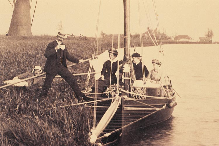 Boating in the Broads in Victorian days