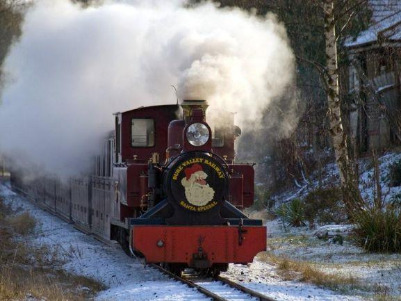 Christmas steam train ride