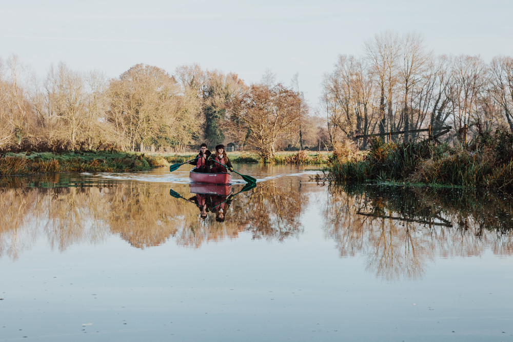 Canoeing the broads in winter