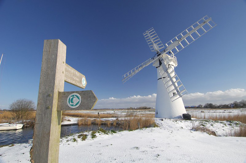 Thurne Mill winter