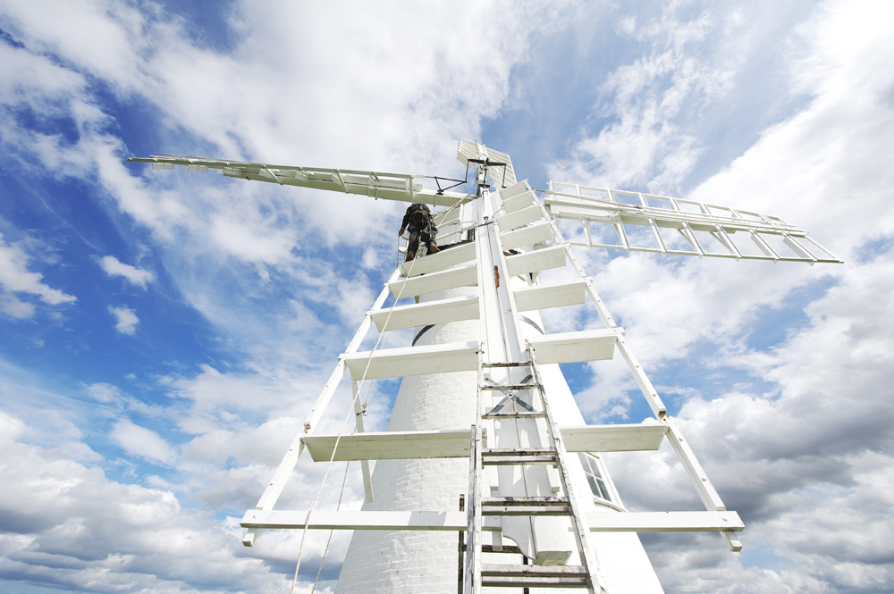 thurne mill being painted