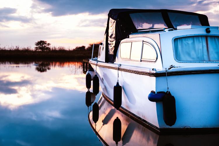 Boat Moored St Benets © danscape