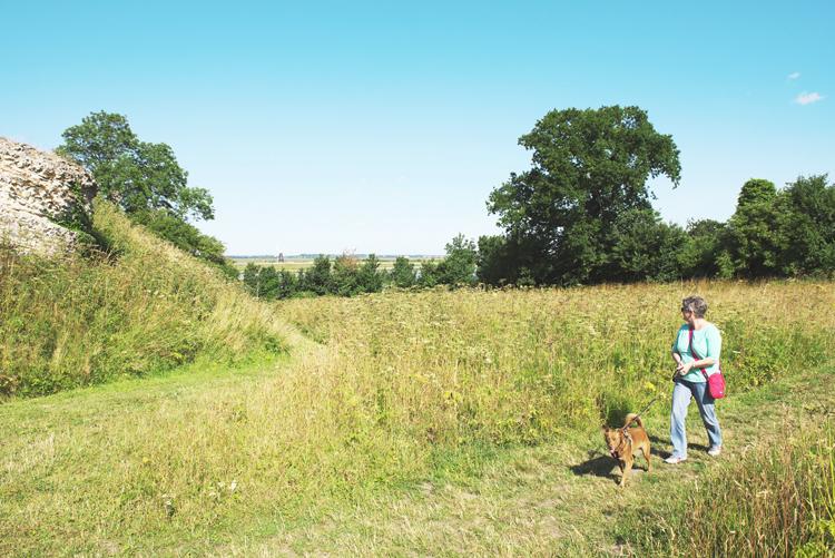 walking at burgh castle
